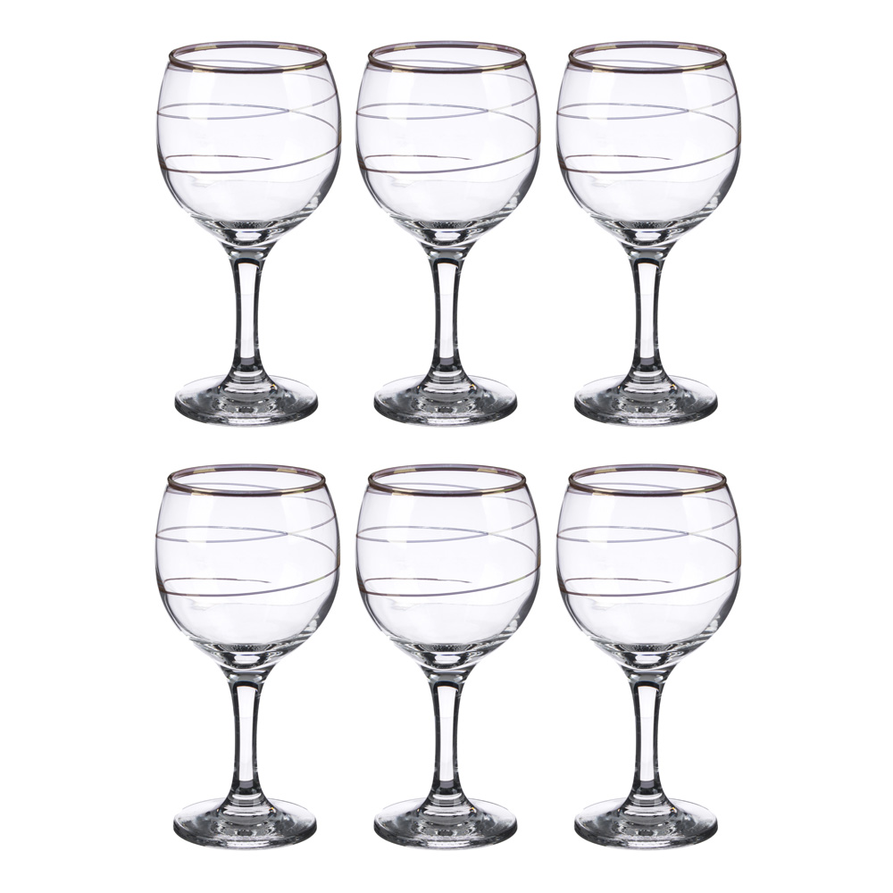 """Набор фужеров 6шт для вина 290 мл, """"Спираль"""", в под/уп, арт 1711-3"""