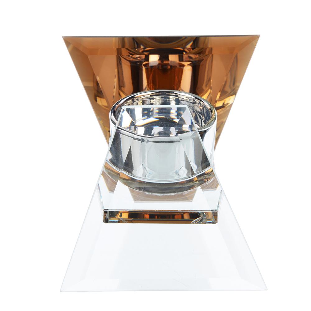 Подсвечник зеркальный треугольник, стекло, 10х10х8 см