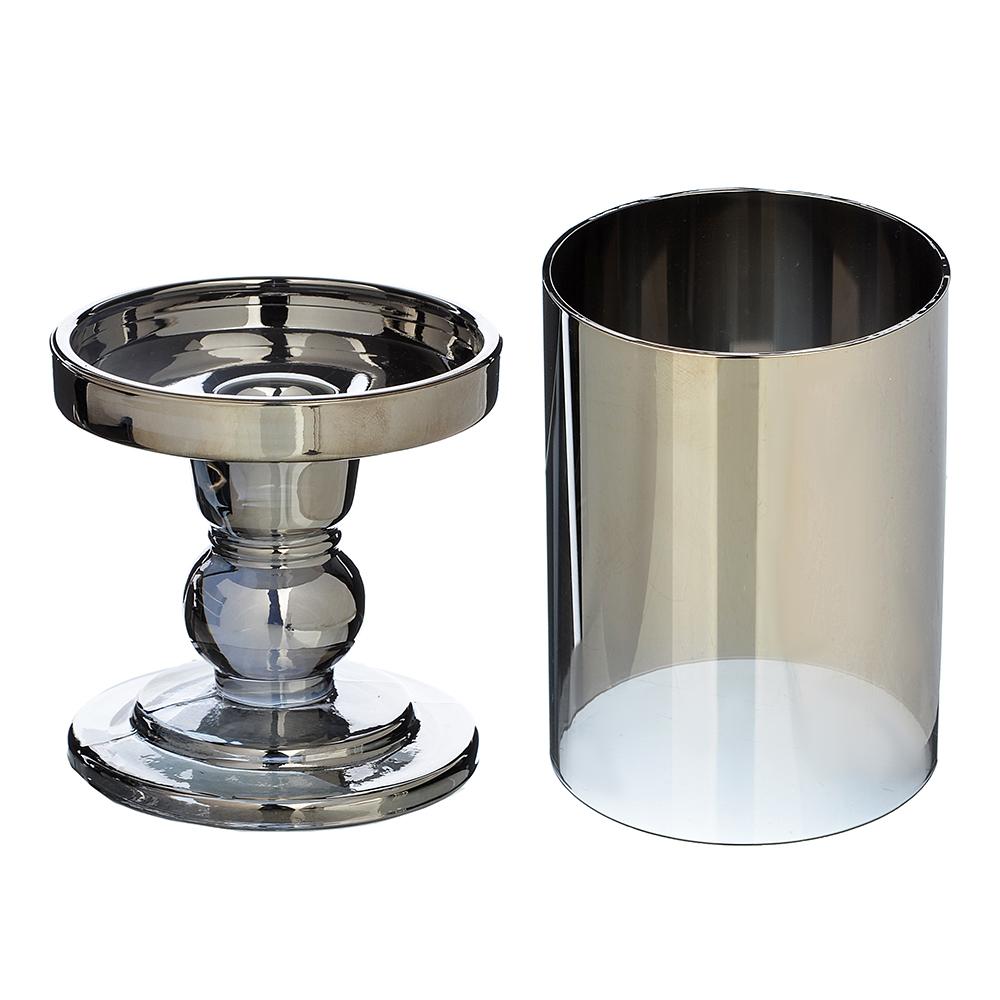 Подсвечник со стеклянной колбой, 18х8,5 см