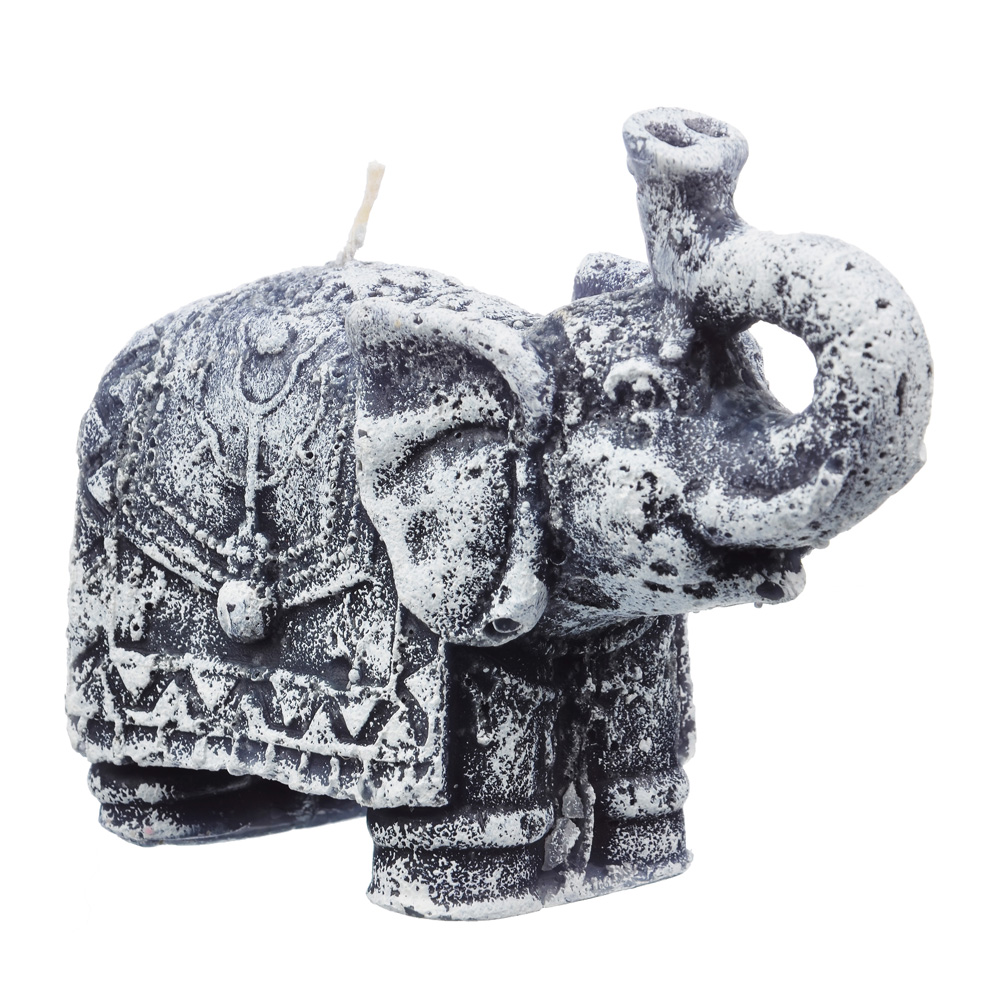 """Свеча """"Слон"""" парафиновая фигурная цветная, 12,5х5,4 см"""