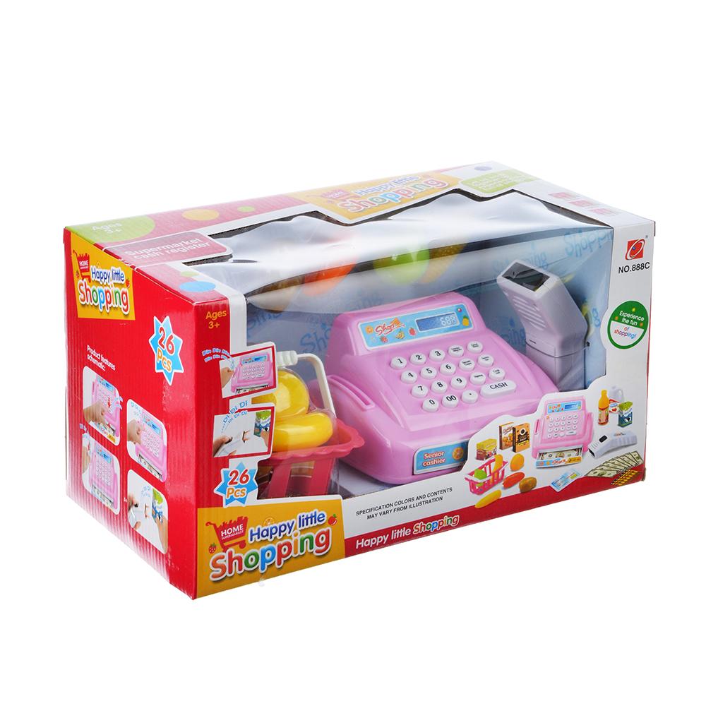 "Игровой набор ""Касса"", на батарейках (3АА касса +2АА сканер), свет,звук,пластик, картон,32х17х17 см"