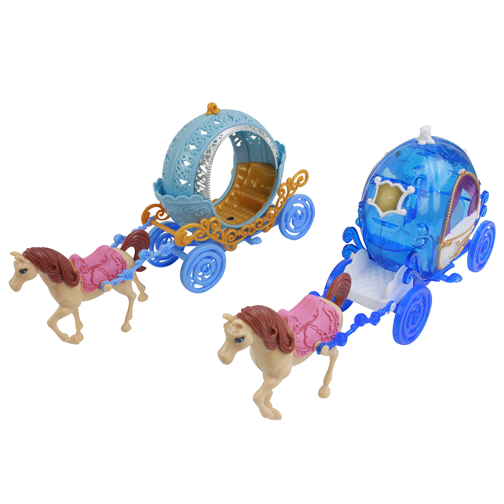 Экипаж для маленькой куклы, пластик, 17,5х8,5х32
