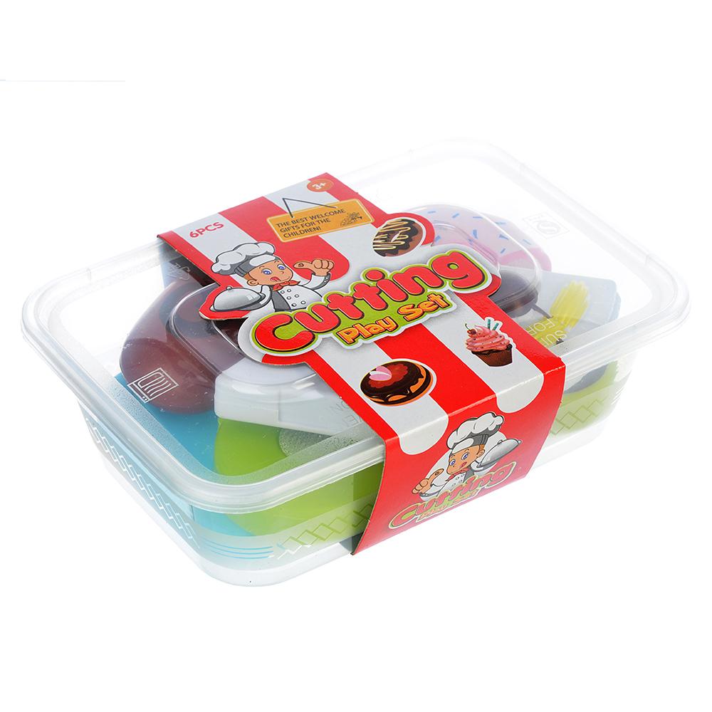 "Набор продуктов для резки ""Пирожное"", шоу-бокс 4шт, пластик, 34,5х24х5,5см, 2 вида"