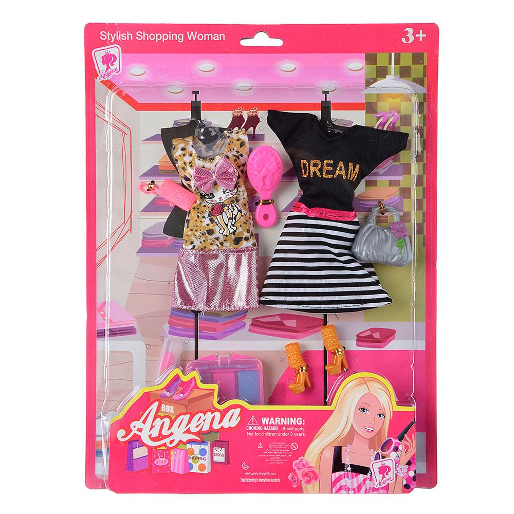Набор одежды для кукол с аксессуарами, текстиль, пластик