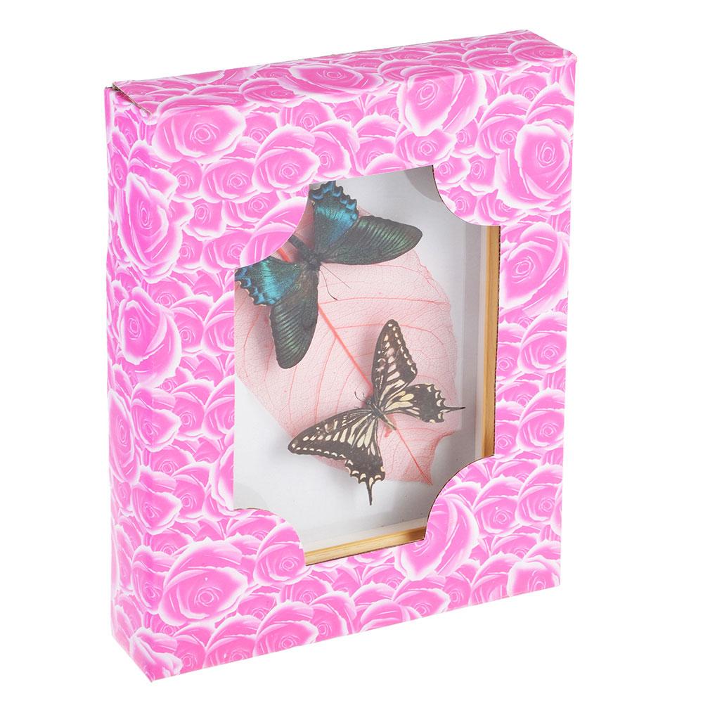 Панно с бабочками, стекло, МДФ, 17х22 см