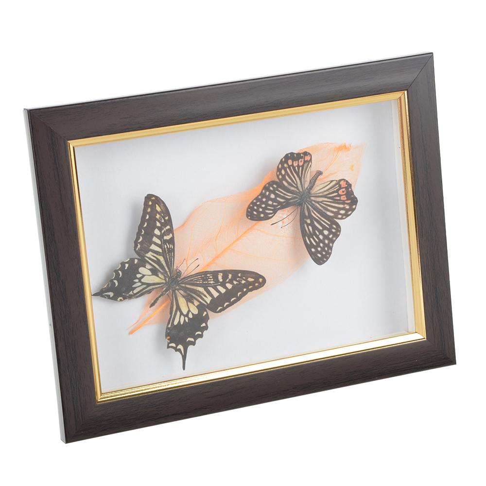 Панно с бабочками, стекло, МДФ, 16х21 см
