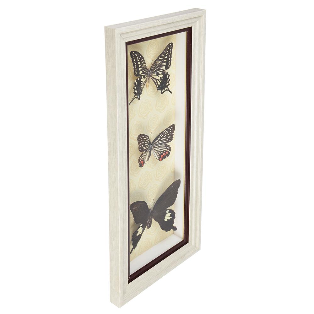 Панно с бабочками, стекло, МДФ, 38х16 см