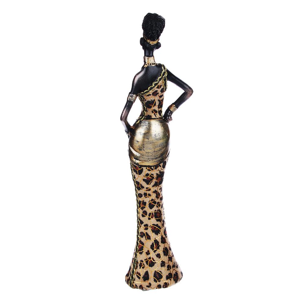 Статуэтка в виде африканки, 27,5х4,5х6 см, полистоун, 2 вида