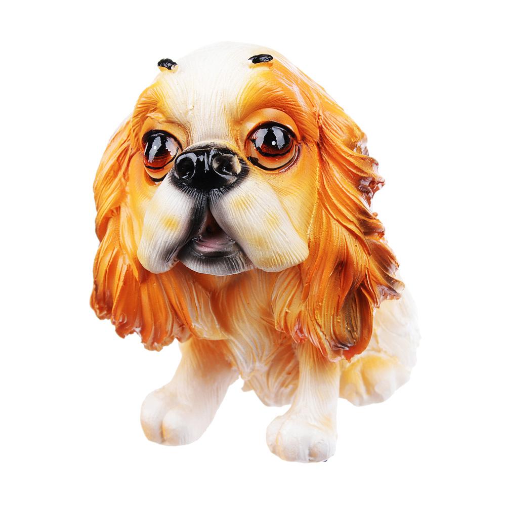 Фигурка в виде собаки, 7х8 см, полистоун, 4 вида