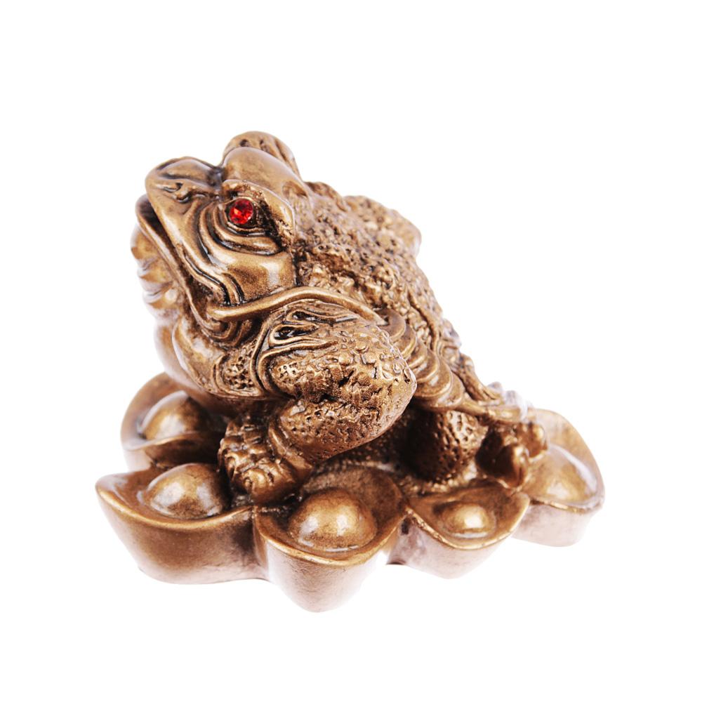 Фигурка в виде жабы с монетой, 8х7х5,5 см, полистоун