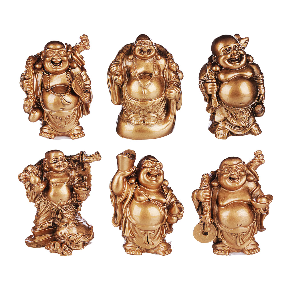 Фигурка в виде Будды, 9х6х5 см, полистоун, 6 видов