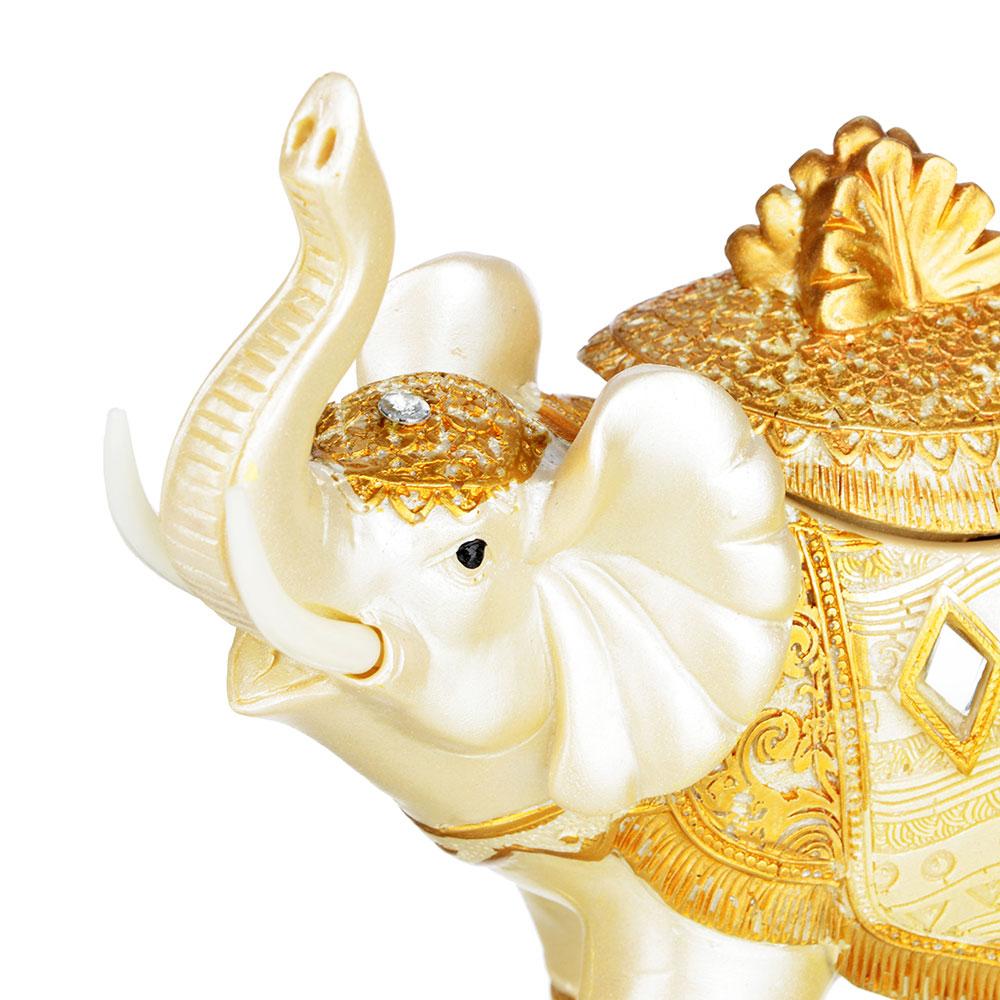 Фигурка - шкатулка в виде слона, 17х7,5х15,5 см, полистоун, 2 вида