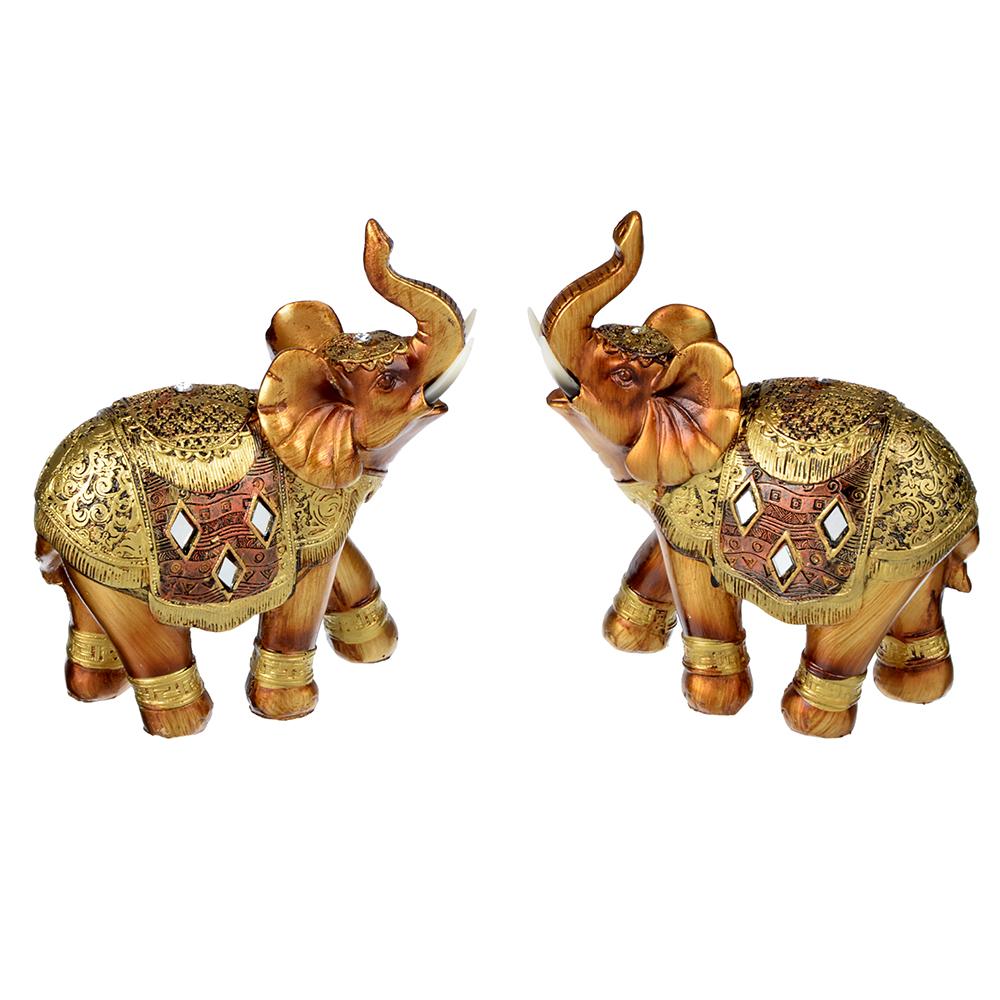 Фигурка в виде слона, 13,5х5,5х14 см, полистоун, 2 вида