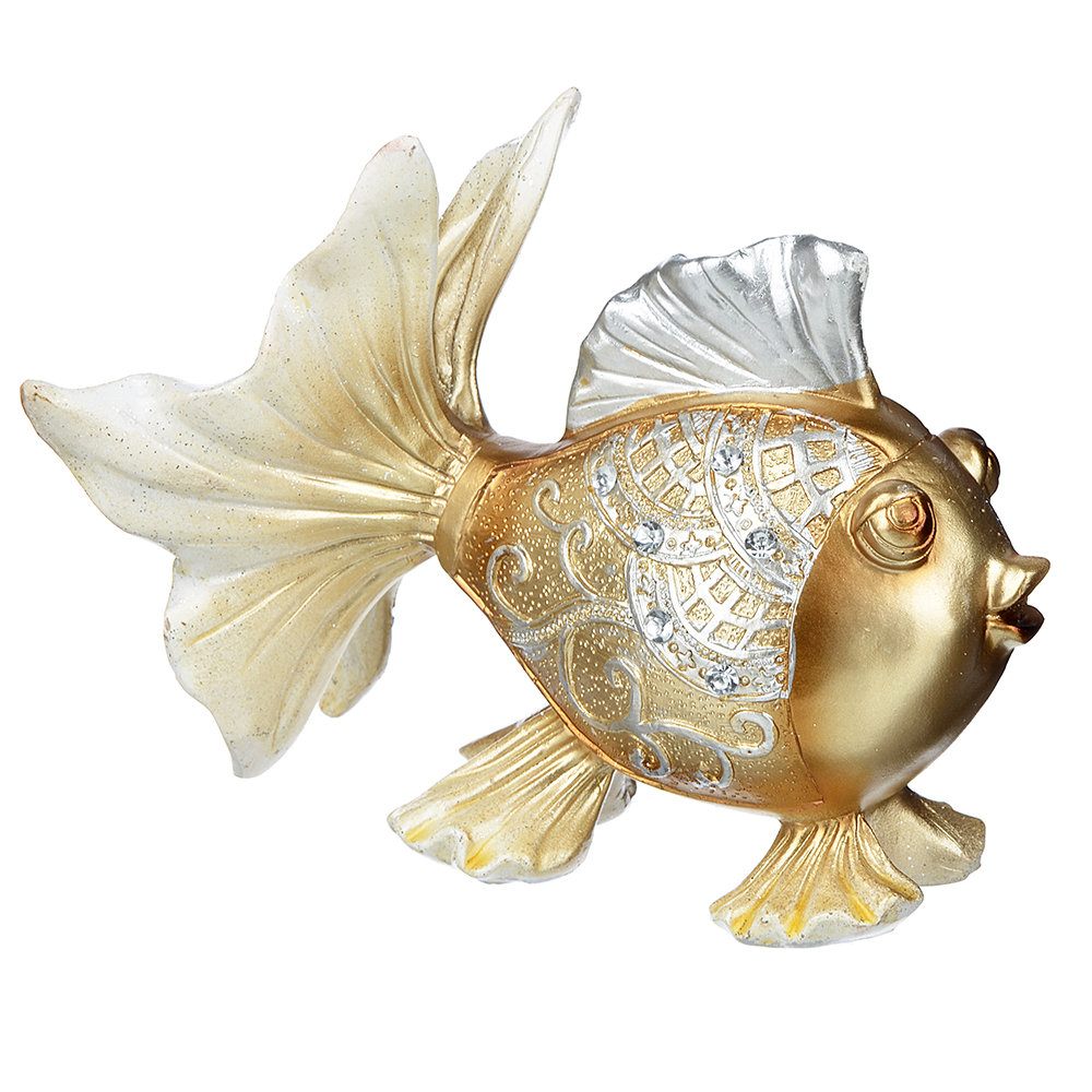 Фигурка в виде рыбы, 14,5х11 см, полистоун