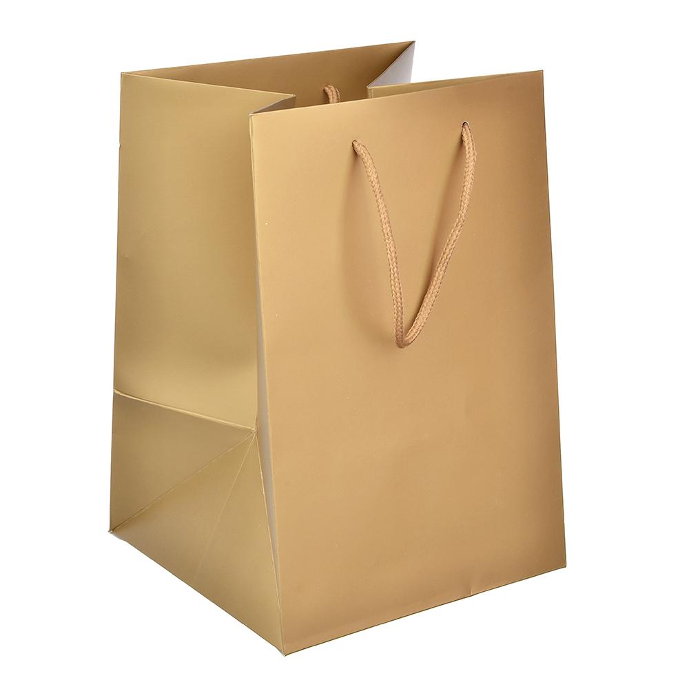 Пакет подарочный однотонный, высококачественная бумага, 17,5х25,5х17 см, 8 цветов