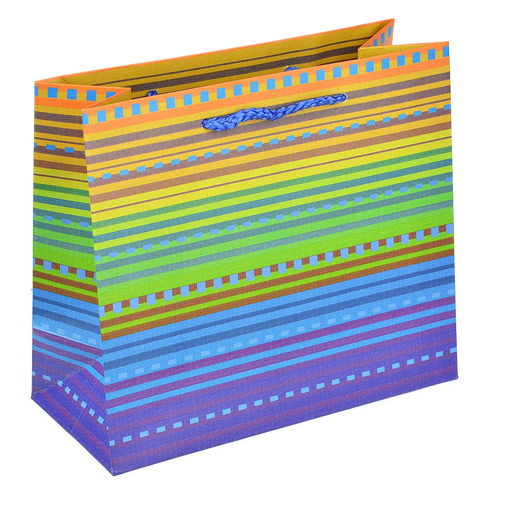 Пакет подарочный, высококачественная бумага, 18х16х8 см, яркие краски, 6 цветов