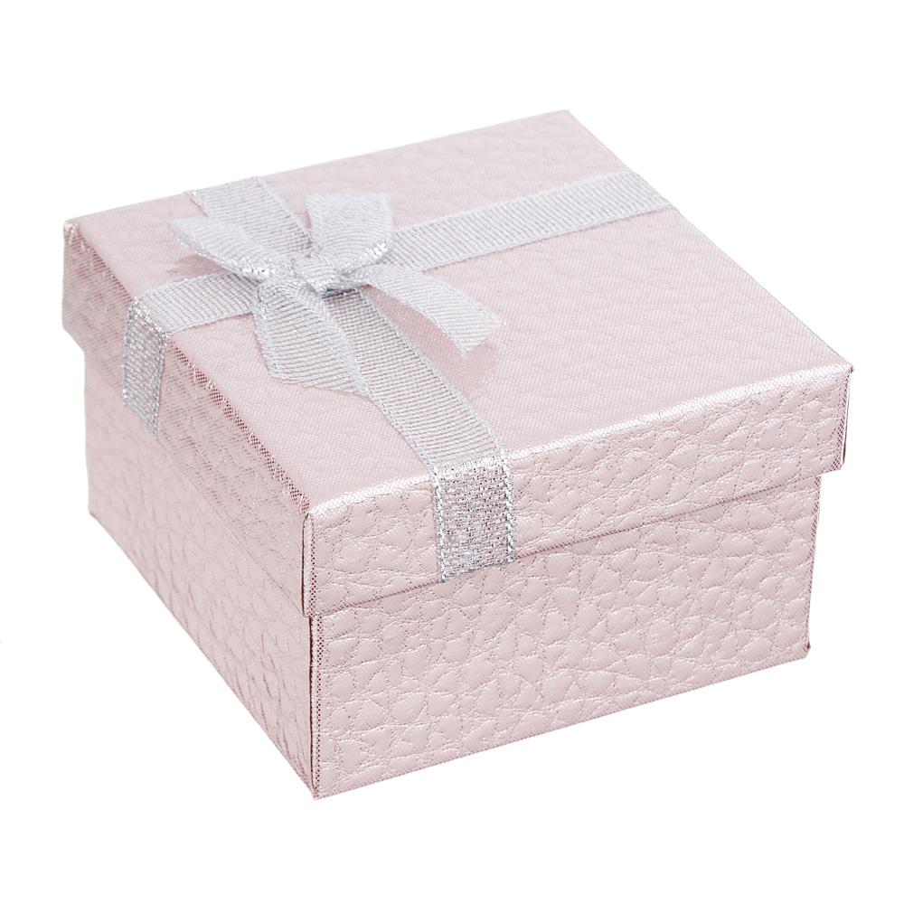 Коробка подарочная с бантом, блеск, 8,5х8,5х5,5 см, 6 цветов