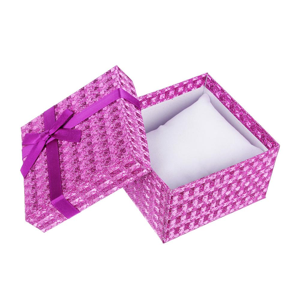 Коробка подарочная, с бантом, 8,5х8,5х5,5 см, 6 цветов