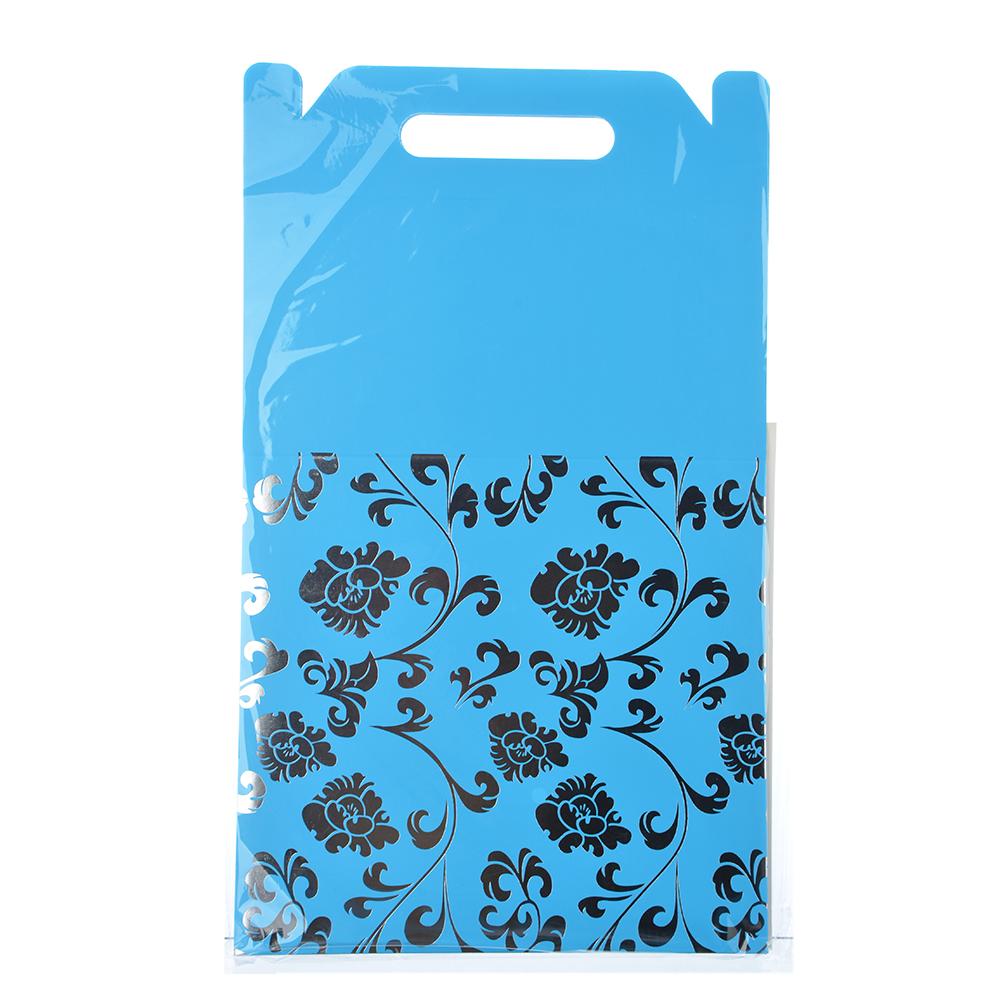 Коробка подарочная складная с ручками, с фольгированным слоем, бумага, 4 цвета, 28х28х26см