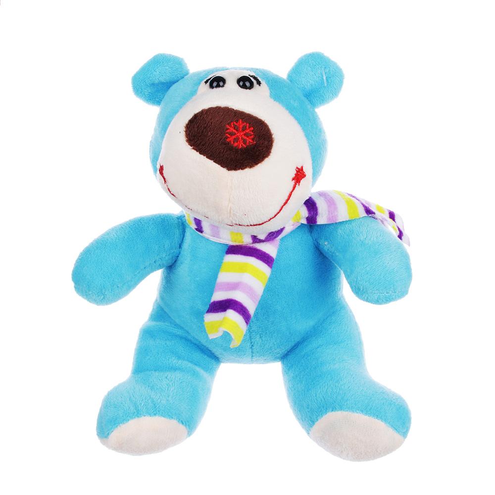 МЕШОК ПОДАРКОВ Мягкая игрушка в виде Медведя в шарфе, 21см, полиэстер, 4-8 цветов