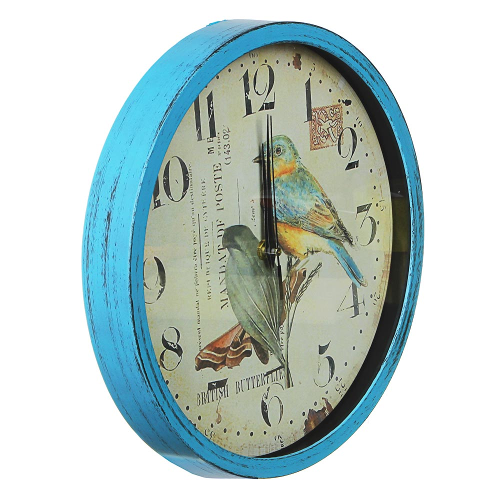Часы настенные, с бабочками, пластик, 30 см, 1хАА