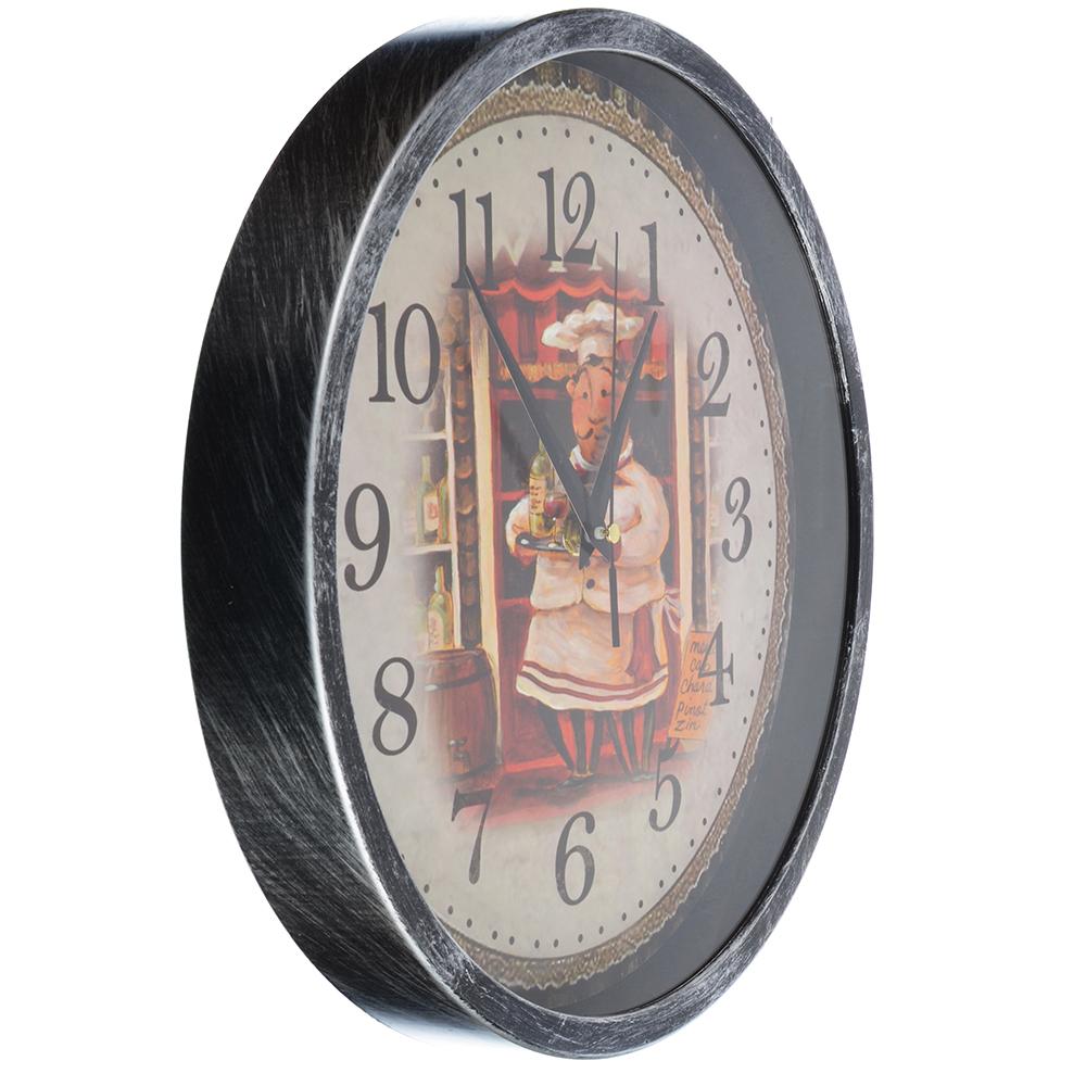 """Часы настенные, пластик, 30 см, 1хАА, """"Повар"""""""