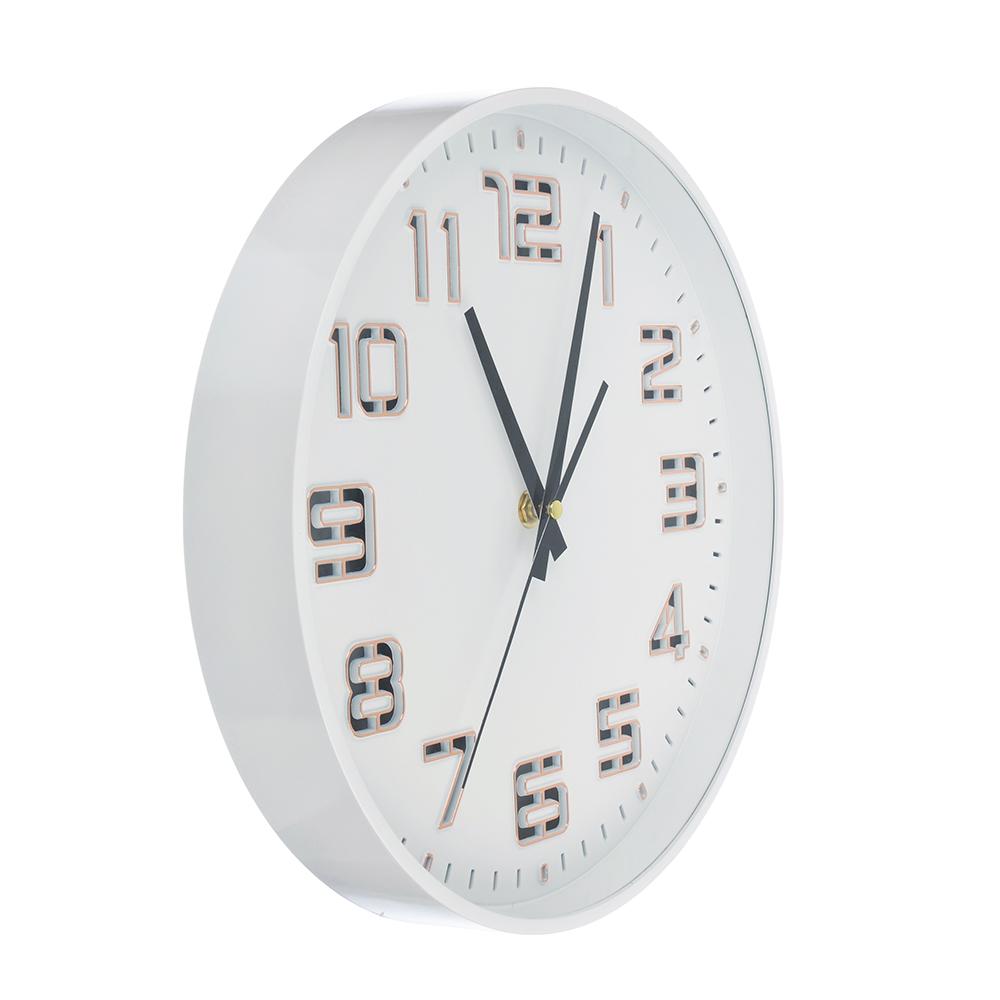 Часы настенные, светящиеся, пластик, 30 см, 1хАА, USB, зеленые