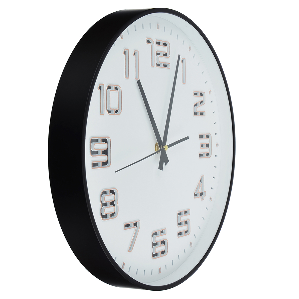 Часы настенные, светящиеся, пластик, 35 см, 1хАА, USB