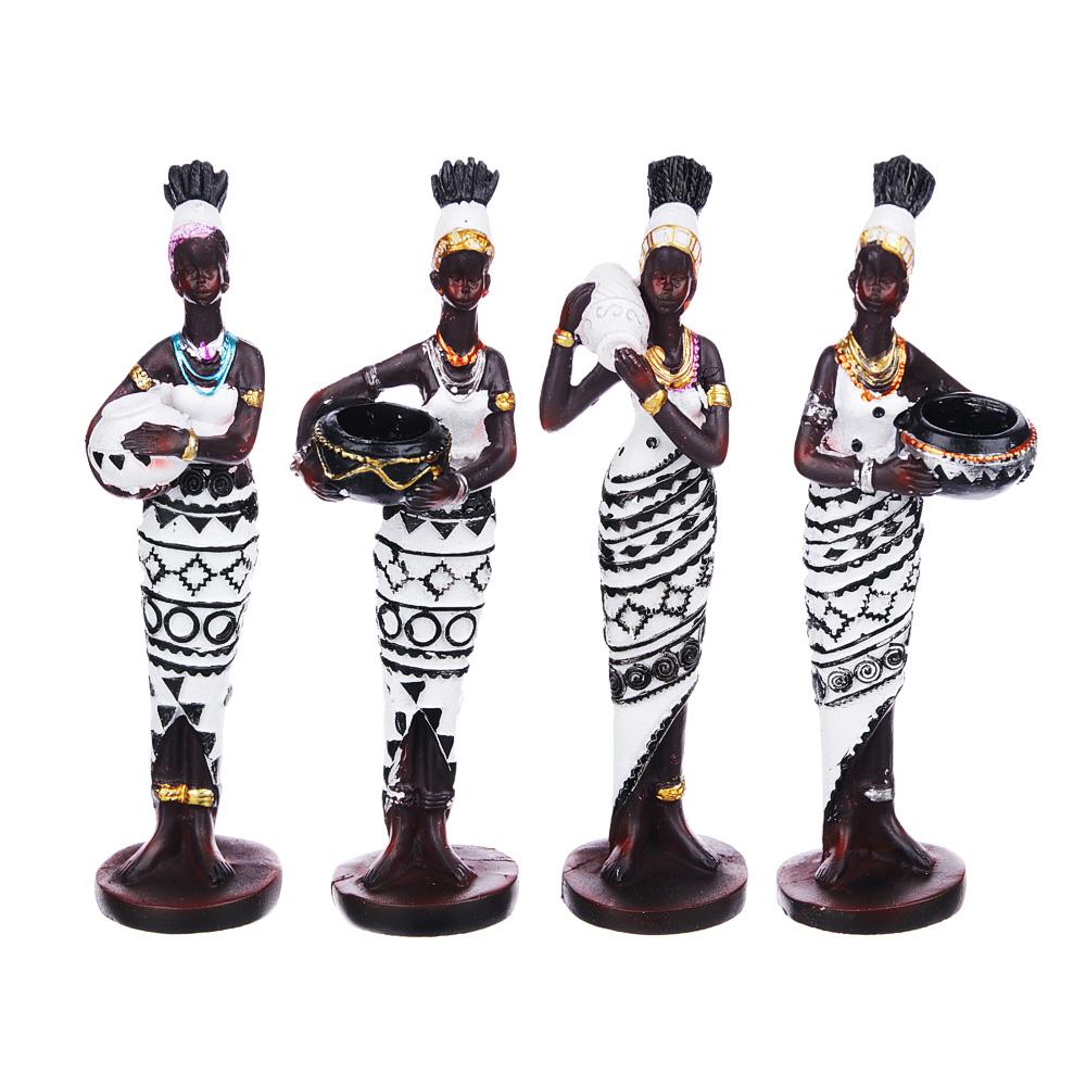 Статуэтка в виде африканки, 15-15,5 см, полистоун, 4 дизайна