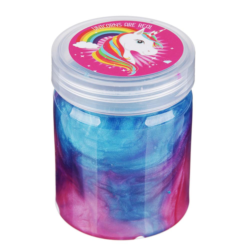 Слайм перламутровый, 130гр., полимер, 1-4 цвета