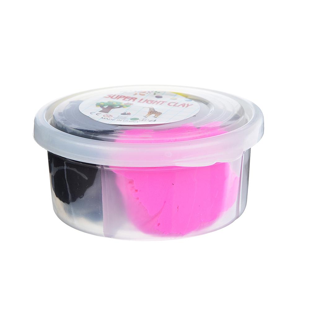 Глина застывающая легкая, в наборе 4 цвета, 50-60гр, полимер, 8х4х4см, 4-12 цветов