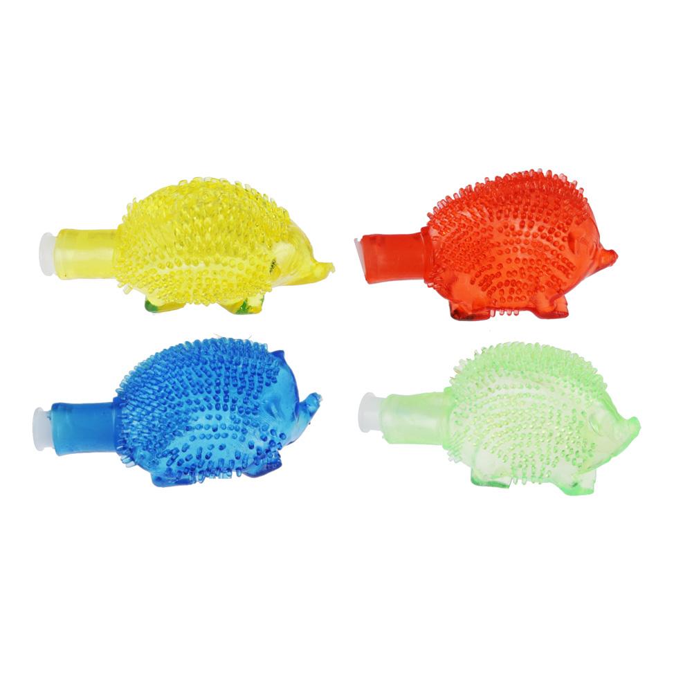 Лизун твердый надувной Ёжики, 5,5см, ТПР, 2-4 цвета