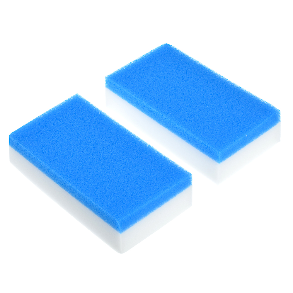 Набор губок-ластиков 2-в-1, меламин, полиуретан, 12х6,5х3 см, 2 шт, VETTA