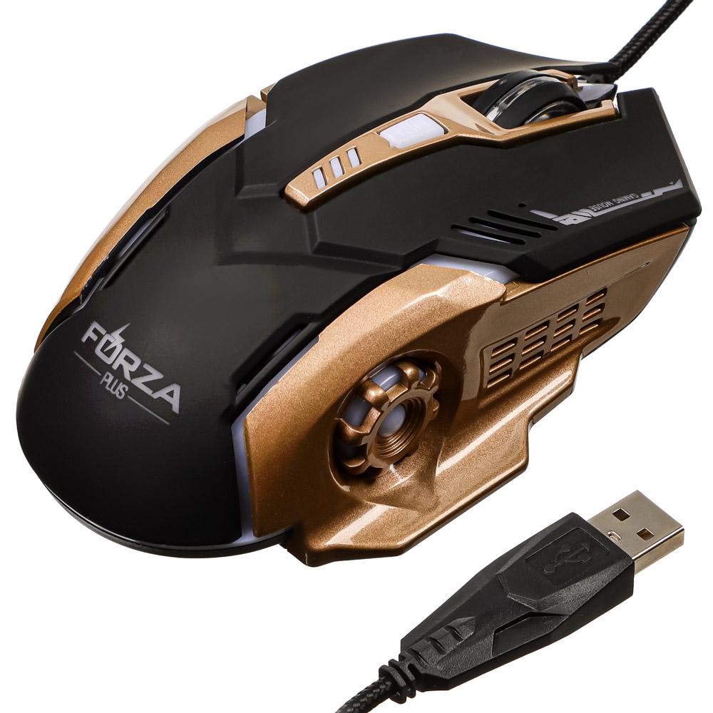 BY Компьютерная мышь, игровая, 6 кнопок, с подсветкой, длина шнура 140см