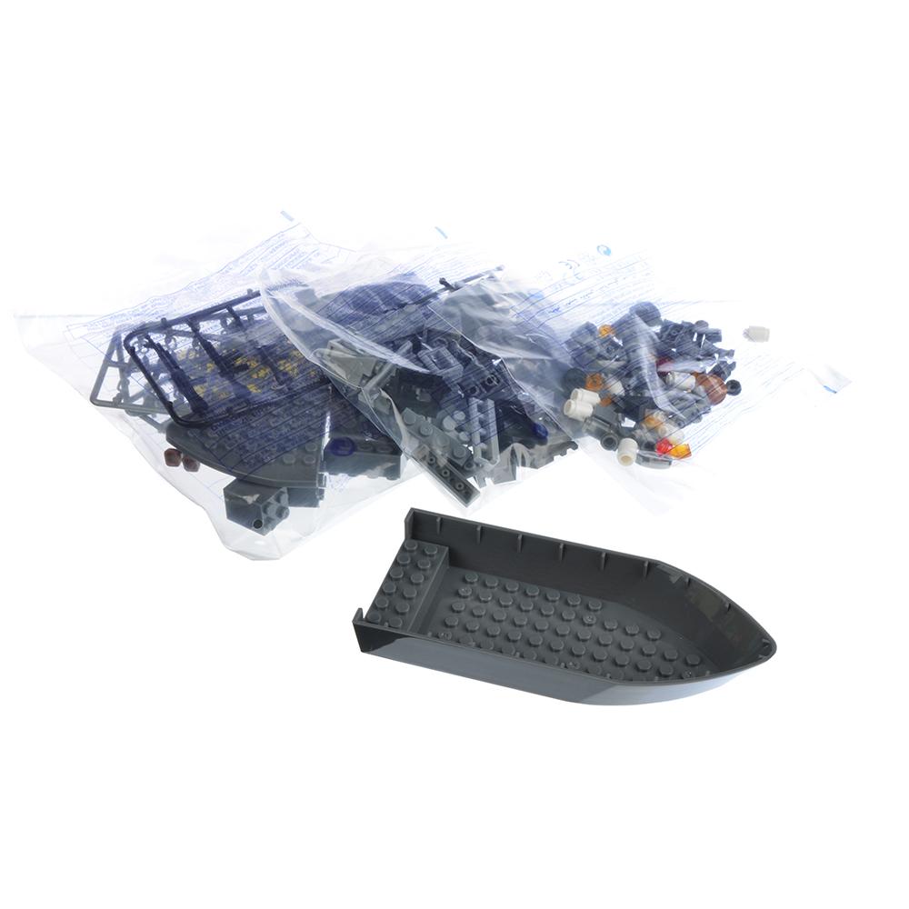 ИГРОЛЕНД Армия Конструктор Военный крейсер, 193дет., пластик, 20x15x6см