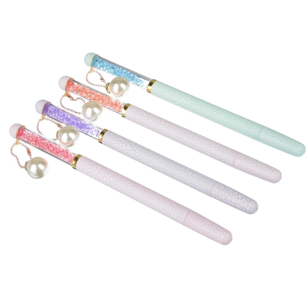 Ручка шариковая с кристалами, синяя, 4 цвета корпуса