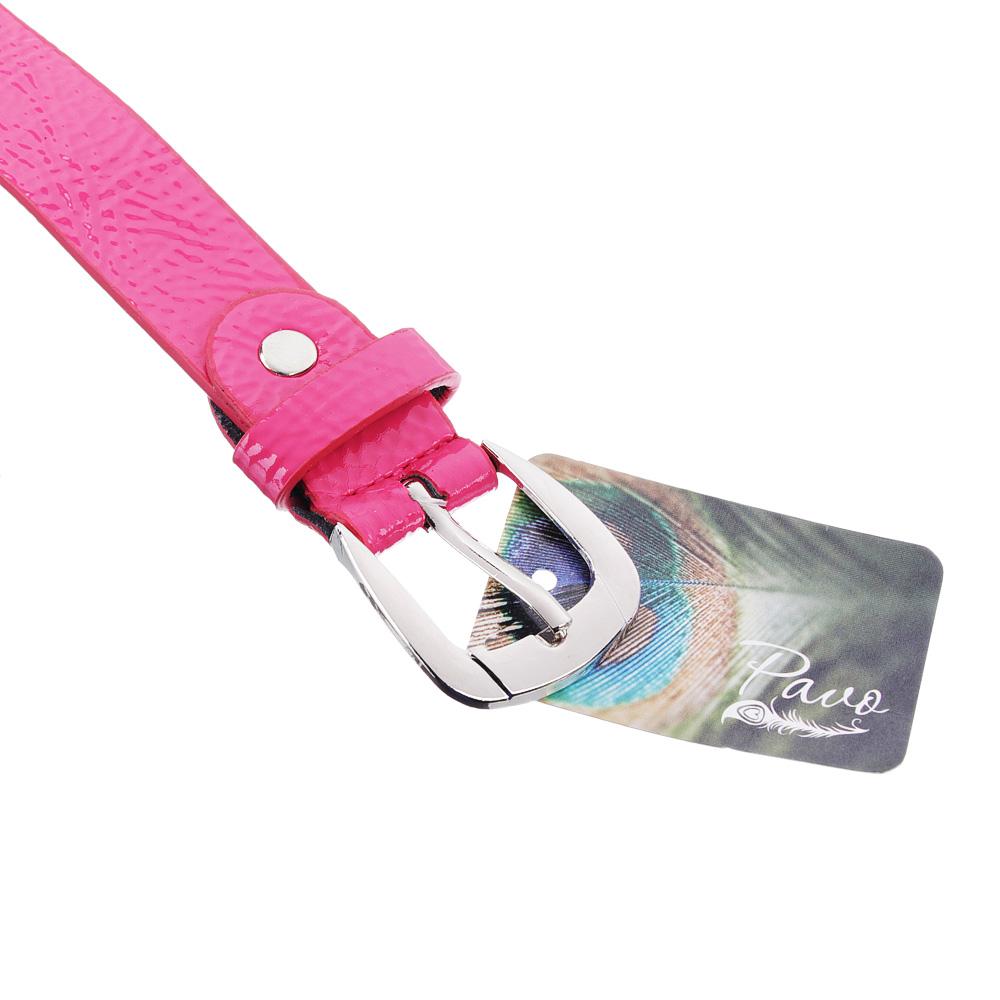 Ремень для девочек, ПУ, длина 90  см, ширина 2,3 см, 4 цвета, PAVO