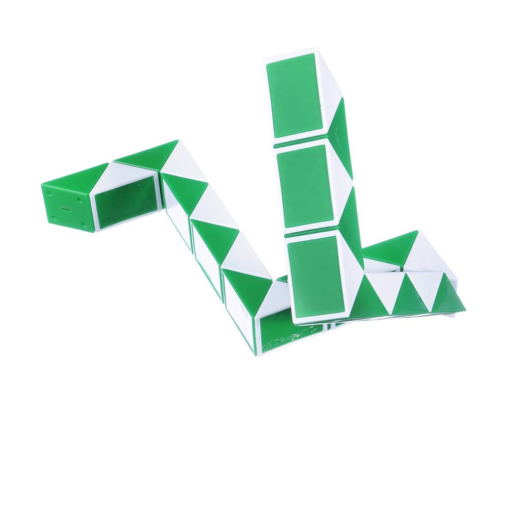 "ИГРОЛЕНД Головоломка ""Мир квадратов. Змейка лайт"", пластик, 10х6,7х2,4см, 3 цвета"