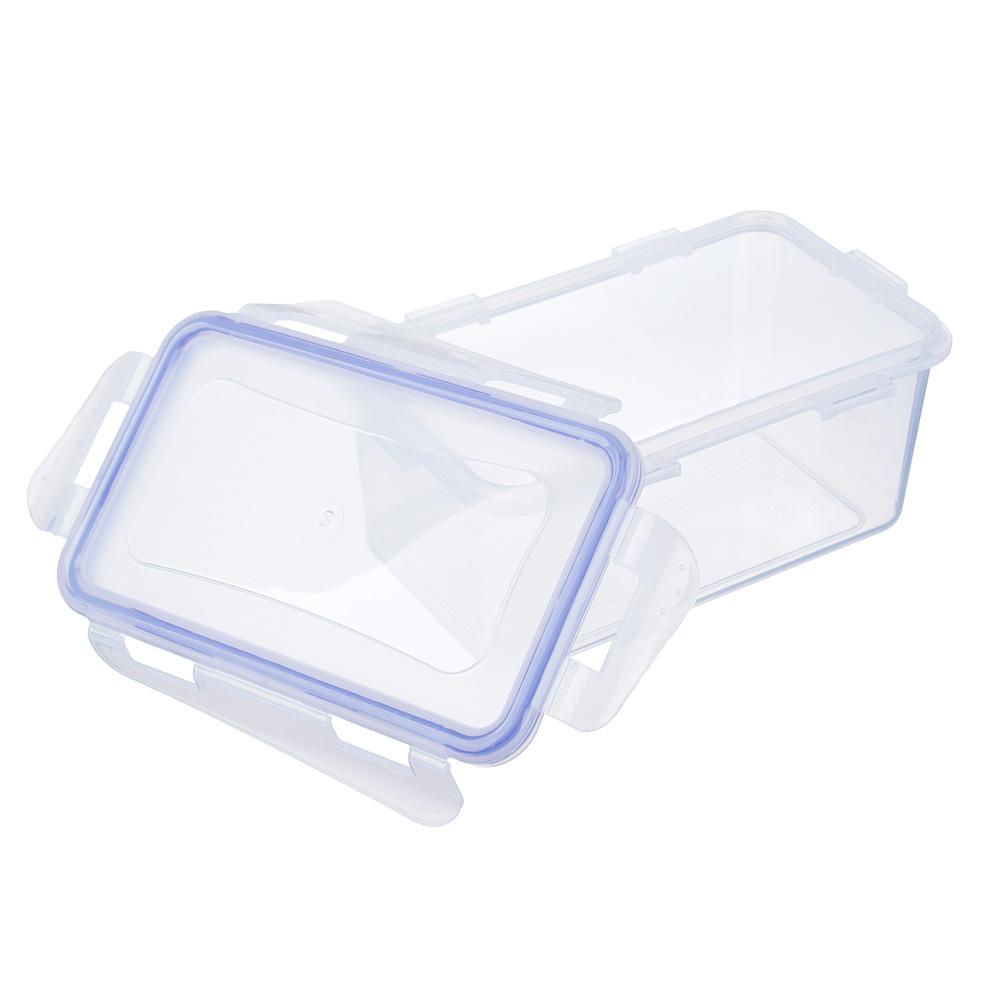 VETTA Контейнер для СВЧ с крышкой, пластик, прямоугольный с защелками, 0,65л, V167041