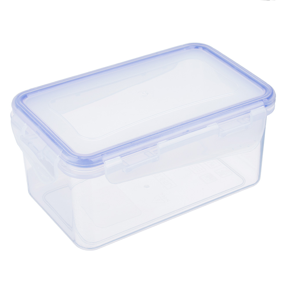 Контейнер пищевой 0,65 л для СВЧ, крышка с защелками, VETTA
