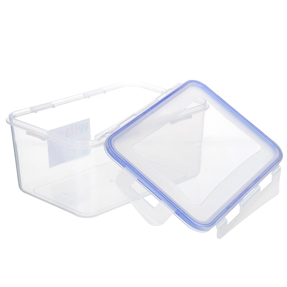 Контейнер пищевой 2,5 л для СВЧ, крышка с защелками, VETTA