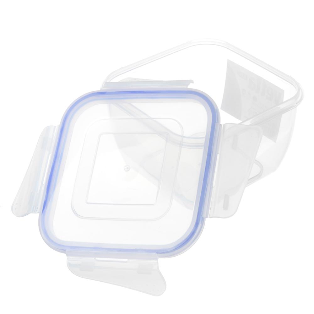 Контейнер пищевой 0,9 л для СВЧ, крышка с защелками, VETTA