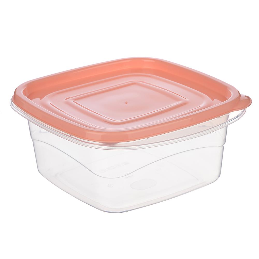"""Контейнер пищевой квадратный 2,1 л для СВЧ, крышка с защелками, """"Омега"""" VETTA"""
