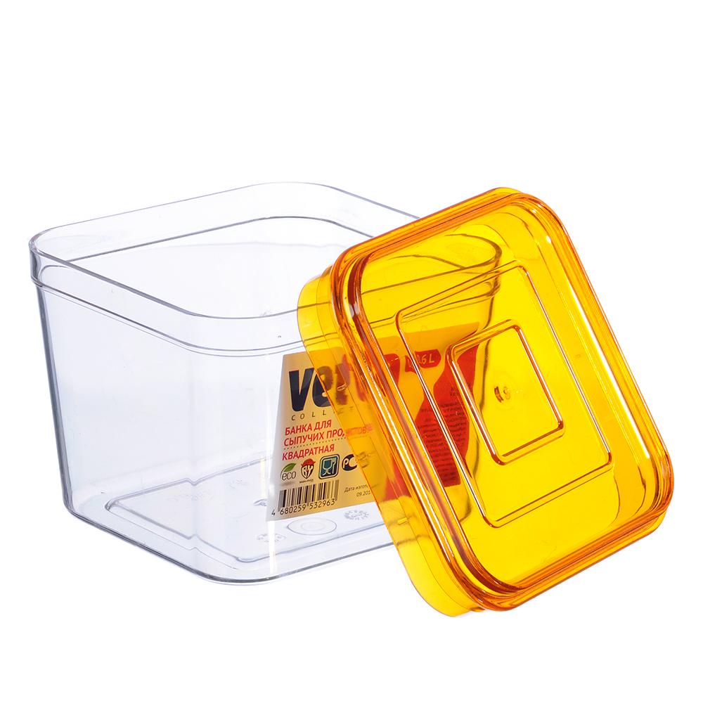 Емкость для сыпучих продуктов 0,6 л, пластик, VETTA