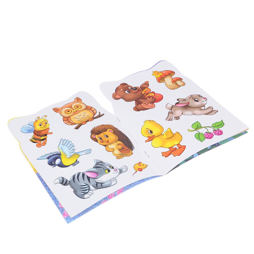 ХОББИХИТ Раскраска с наклейками, 12стр. + наклейки 2стр., бумага, 21х15см, 6 дизайнов