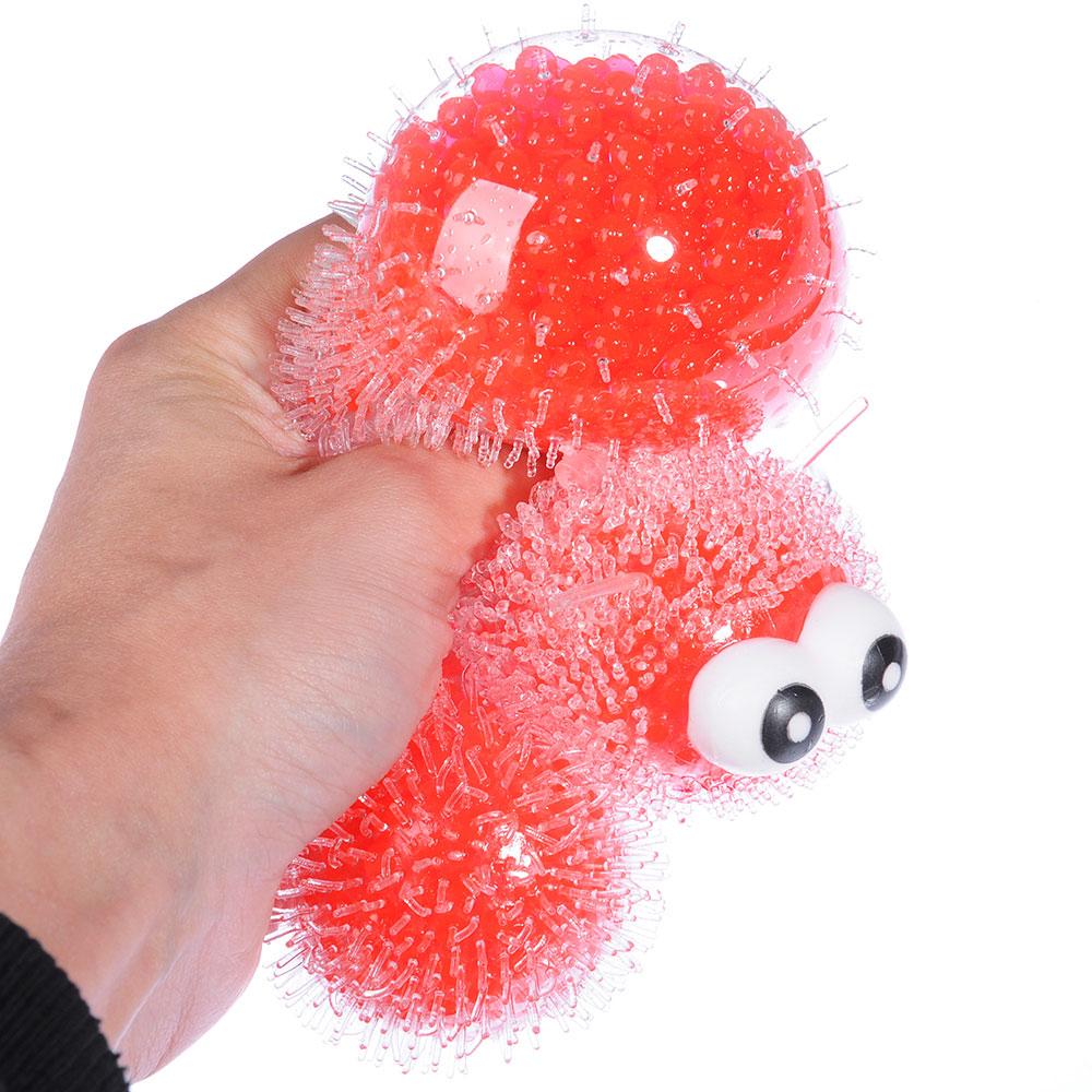 LASTIKS Мялка с шариками в виде гусеницы, 22см, TPR, 5,5х22х5,5см, 3-6 цветов