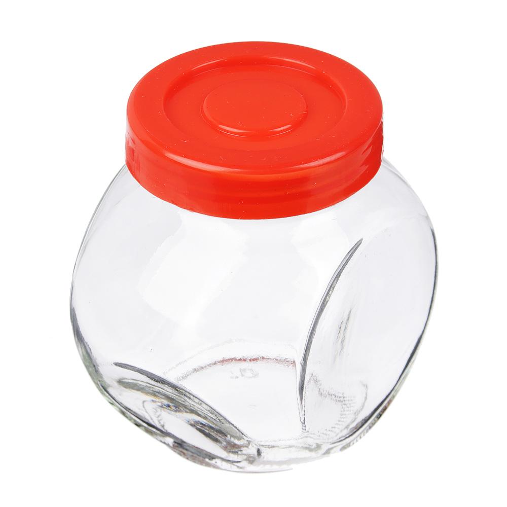 Набор банок для сыпучих продуктов 4шт, 150 мл, стекло