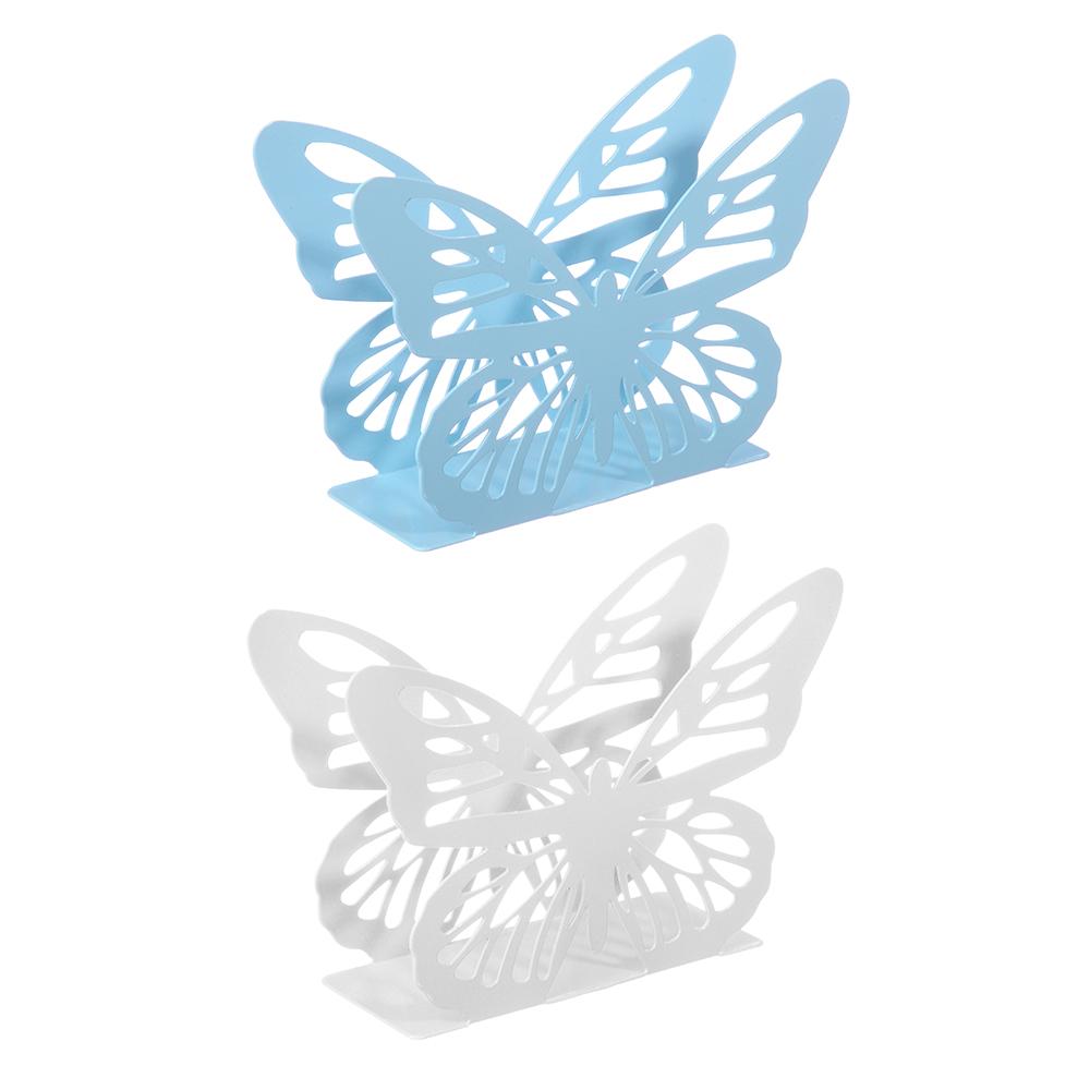 "Салфетница металлическая 13х9 см ""Бабочка"", 2 цвета"
