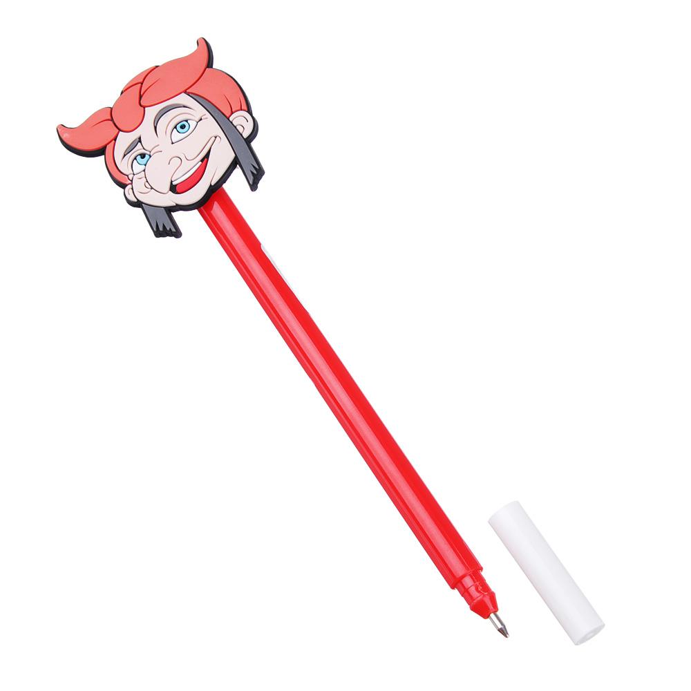 Ручка шариковая BY 0,7 мм, синяя, 6 дизайнов
