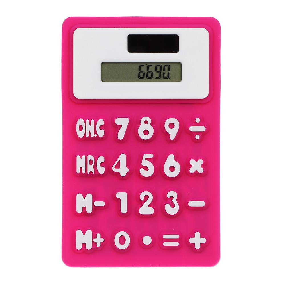Калькулятор 8-разр.с гибким силиконовым корпусом и магнитом, солн.питание, 7,3х11,6см, 4 цв